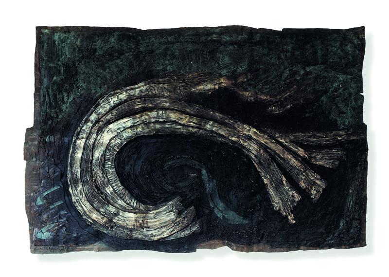 Bronzerelief Heideldruck 350x200 cm.